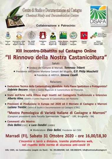 'Incontro-Dibattito sul Castagno 31.10.20
